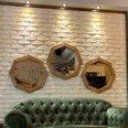 Spoguļu komplekts Kalune Design 2101, 3 gab., brūns cena un informācija | Spoguļi | 220.lv