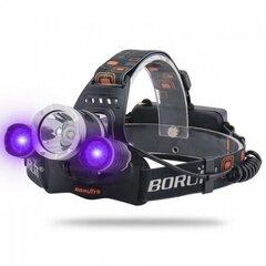 Uz galvas liekams LED lukturis BORUiT RJ-3000 UV cena un informācija | Uz galvas liekams LED lukturis BORUiT RJ-3000 UV | 220.lv