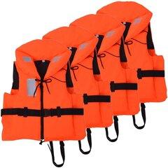 vidaXL peldvestes, 4 gab., 100 N, 90+ kg cena un informācija | Drošības vestes un piederumi  | 220.lv