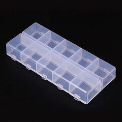 Plastmasas kaste, 130x60x20 mm, 1 gab. cena un informācija | Rotaslietu lādītes | 220.lv