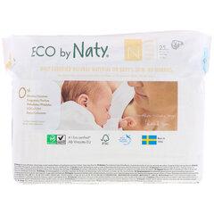 Autiņbiksītes Eco by Naty, 0. izmērs, 0-4,5 kg, 25 gab. cena un informācija | Autiņbiksītes | 220.lv