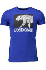 Vīriešu T-krekls Roberto Cavalli, zils cena un informācija | Vīriešu T-krekls Roberto Cavalli, zils | 220.lv