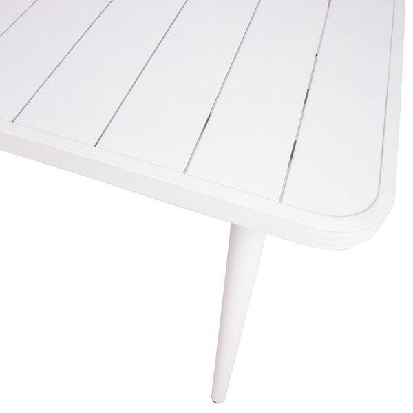 Dārza galds Wales 160x80xH75,5cm, balts atsauksme