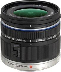 M.Zuiko Digital ED 9-18mm f/4.0-5.6 objektīvs, melns cena un informācija | Objektīvi | 220.lv