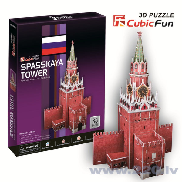3D пазл Spasskaja Tower C118h
