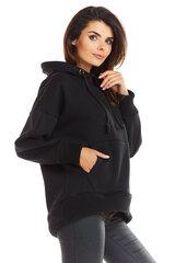 Sieviešu sportisks džemperis, melnā krāsā 907126921 cena un informācija | Jakas sievietēm | 220.lv
