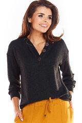 Sieviešu džemperis, melnā krāsā 907130173 cena un informācija | Jakas sievietēm | 220.lv