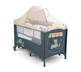 Ceļojumu gulta Delux, zili dzīvnieki cena un informācija | Bērnu istabas iekārtas | 220.lv