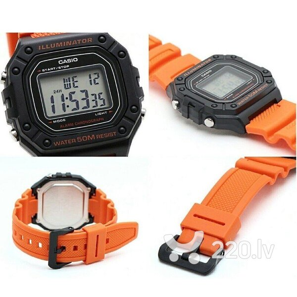 Vīriešu rokas pulkstenis Casio W-218H-4B2VEF 891070462 cena un informācija | Vīriešu pulksteņi | 220.lv