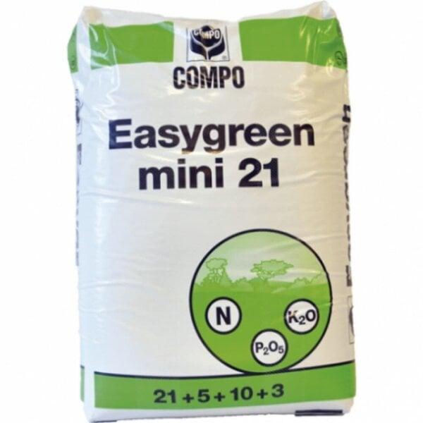 Mauriņa mēslojums Easy Green NPK 21-5-10 + me/2-3 k 25 kg cena un informācija | Zāles pļāvēji | 220.lv