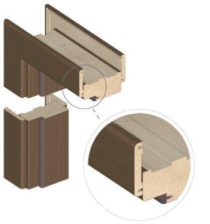 Standarta durvju rāmis, ciedra