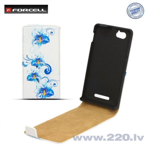 Forcell Slim Flip Pattern вертикальный чехол с рисунком Design 1 для телефона Samsung G350 Core Plus