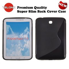 Telone Back Case S-Case gumijots telefona apvalks Samsung P3200 Galaxy Tab 3 7.0 Melns cena un informācija | Somas, maciņi | 220.lv