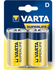 Baterijas Varta Superlife D 2 gab.