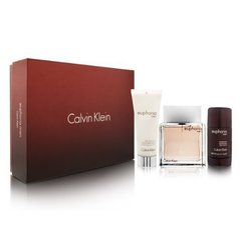 Komplekts Calvin Klein Euphoria: edt 100 ml + pēcskūšanās losjons 100 ml + dezodorants 75 ml