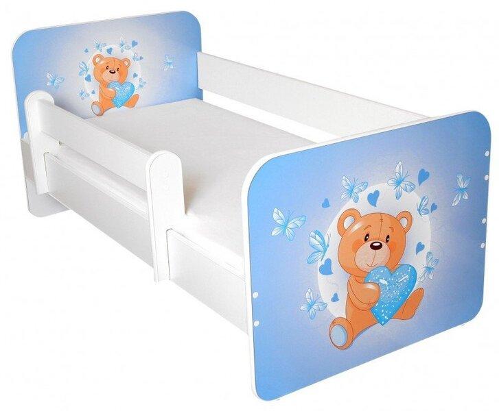 Детская кровать с матрасом и съемным барьером Ami 17, 140x70 см