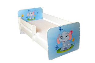 Bērnu gulta ar matraci un noņemamu maliņu Ami 25, 140x70cm