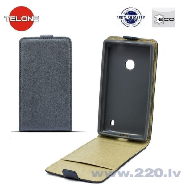 Telone Shine Pocket Slim Flip вертикальный чехол для телефона LG D320 Optimus L70, Серый
