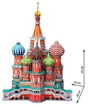 3D пазл CubicFun St. Vasily Cathedral MC093h