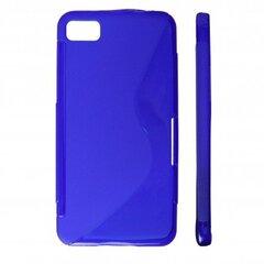 KLT Back Case S-Line Nokia 302 Asha gumijas/plastikāta telefona apvalks Zils cena un informācija | KLT Back Case S-Line Nokia 302 Asha gumijas/plastikāta telefona apvalks Zils | 220.lv