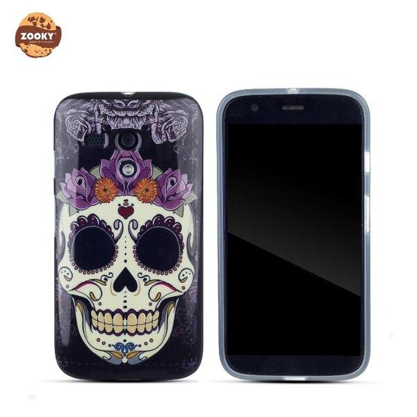 Zooky Gumijots telefona apvalks ar Skulls Art Dizainu Motorola Moto G X1032