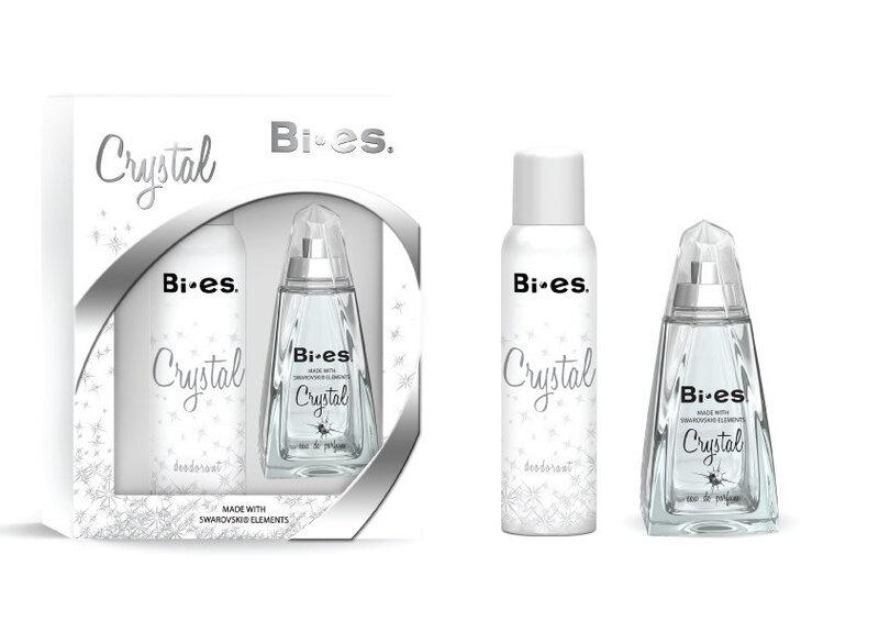Komplekts Bi-es Crystal: edp 100 ml + dezodorants 150 ml