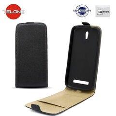Telone Shine Pocket Slim Flip Case Apple iPhone 4 4S telefona maks vertikāli atverams Melns
