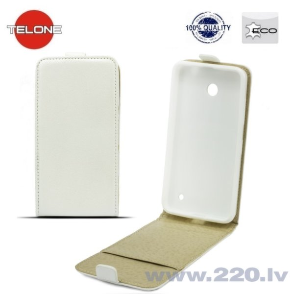 Telone Shine Pocket Slim Flip vertikāli atverams maks telefonam Apple iPhone 6 Plus, Balts