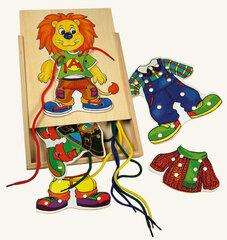 Bino koka veramā rotaļlieta Lauva cena un informācija | Zinātniskās un attīstošās spēles, komplekti radošiem darbiem | 220.lv