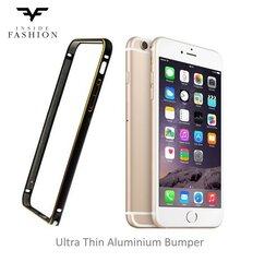 Fashion Cупер Тонкий Металлический Бампер iPhone 6 Plus 5.5 inch Черный/Золотистый (EU Blister)