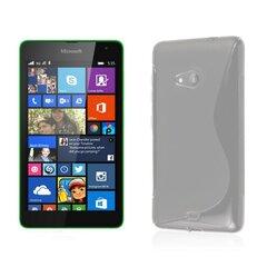 Telone Back Case S-Case gumijots telefona apvalks Microsoft Lumia 535 Caurspīdīgs