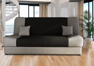 Dīvāns Jas, pelēks / melns