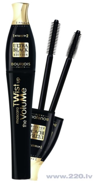 Skropstu tuša Bourjois Twist Up The Volume Ultra Black Edition, 8 ml