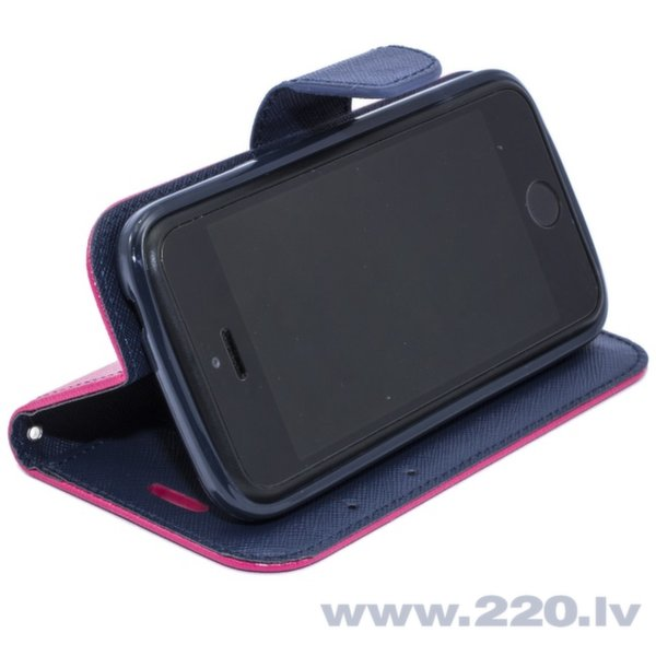 Telone Fancy Diary Book Case Чехол-книжка со стендом для мобильного телефона Apple iPhone 5 5S, Розовый/Синий