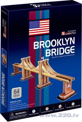 3CubicFun 3D puzzle BROOKLYN BRIDGE C107h