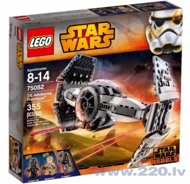 75082 LEGO® Star Wars TIE Advanced Prototype Progresīvs prototips