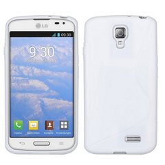 Telone Back Case S-Case gumijots telefona apvalks LG D315 Optimus F70 Caurspīdīgs