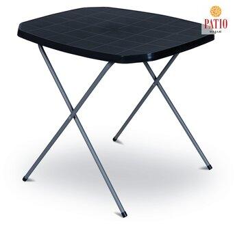Saliekams tūrisma galds, melns cena un informācija | Dārza galdi | 220.lv