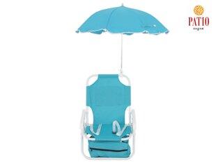 Детский комплект мебели для кемпинга со стулом и зонтиком цена и информация | Bērnu dārza mēbeles | 220.lv