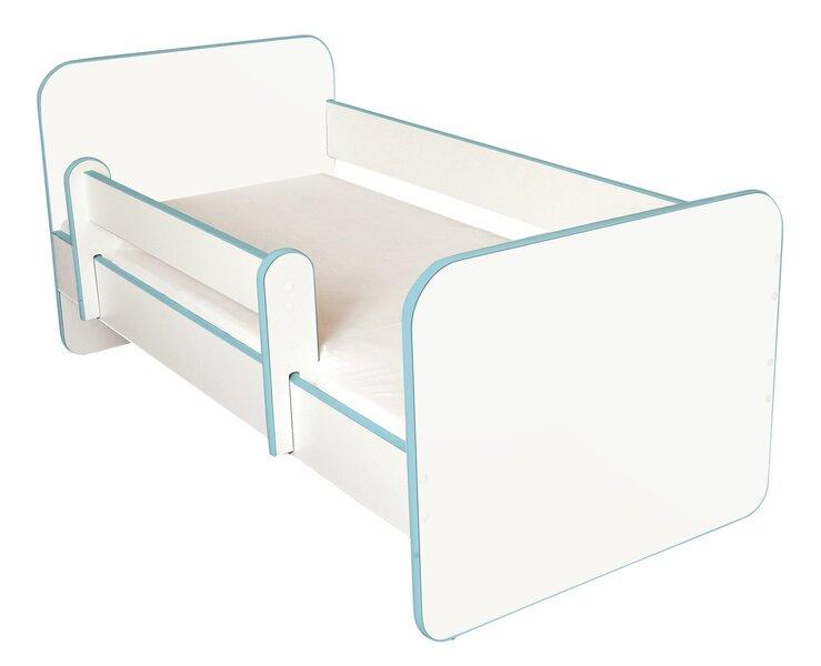 Bērnu gulta ar matraci un noņemamu maliņu Ami N, 140x70cm