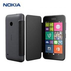 Nokia CC-3087 Oriģināls Super Plāns sāniski atverams maks Nokia Lumia 530 Pelēks (EU Blister)