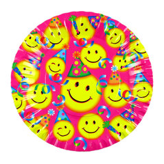 Vienreizējās lietošanas papīra šķīvji Smile, diametrs 18 cm, 10gb.