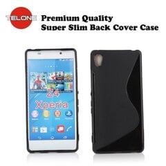 Telone Back Case S-Case силиконовый чехол Sony Xperia Z3+ Plus E6533 E6553 (Z4) Черный цена и информация | Кошельки и сумочки для мобильных телефонов | 220.lv