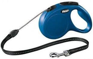 Suņu pavada FLEXI Classic M 5m, zila