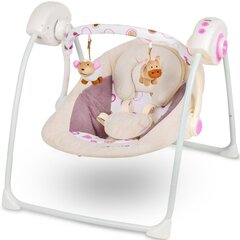 Bērnu šūpuļkrēsliņš Kinderkraft Easy Swing Rozā