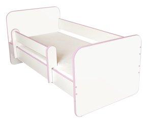 Bērnu gulta ar matraci un noņemamu maliņu Ami R, 140x70cm cena un informācija | Gultas bērniem | 220.lv