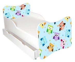 Bērnu gulta ar matraci un veļas kasti Ami 57, 140x70 cm