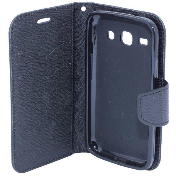 Telone Fancy Diary Book Case ar stendu LG Spirit H440N / H420 sāniski atverams Melns internetā