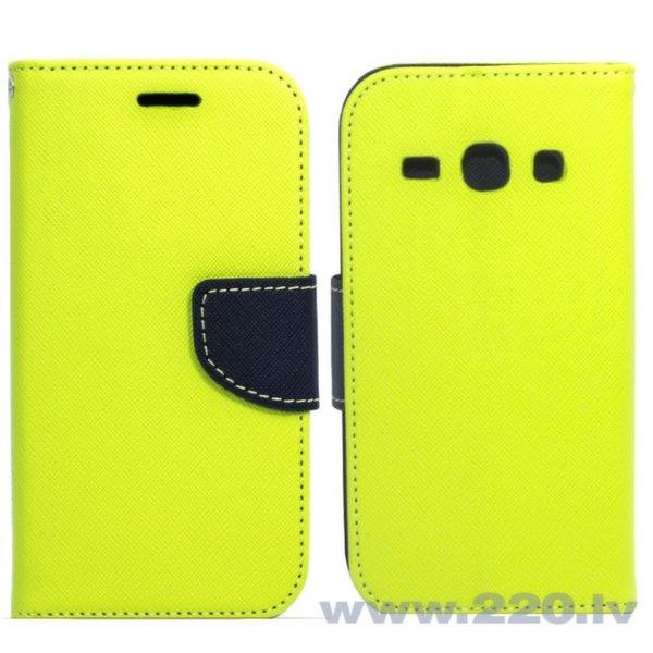 Telone Fancy Diary Book Case ar stendu Samsung J100H Galaxy J1 sāniski atverams Salātkrāsas/Zils cena