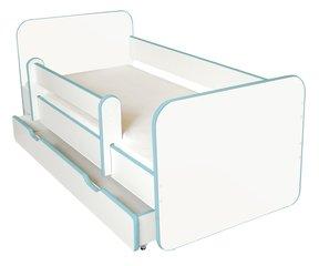 Bērnu gulta ar matraci, veļas kasti un noņemamu maliņu Ami N, 140x70cm cena un informācija | Gultas bērniem | 220.lv